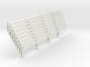 Armco Rail on 4  I-Beam Posts, 8 pcs 3d printed