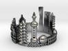 Shanghai Skyline - Cityscape Ring 3d printed
