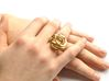 Ring Love is in the Air Medium (from $16) 3d printed Elegant Knot Ring Gold