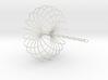 Torus Sculpture pendant 150mm ceiling chain 3d printed