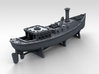 1/700 WW2 RN Boat Set 4 Without Mounts 3d printed 45ft Admirals Barge Mounts NOT Included