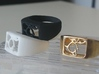 Segunda - The One Ring 3d printed White and Black Strong & Flexible, Raw Brass