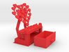 Decorative Mobile Phone Stand with Trinket Box 3d printed