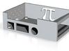 Raspberry Pi And Adafruit Motorhat Case Bottom 3d printed