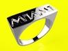 Miami Ring 3d printed
