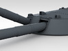 """1/350 RN 13.5"""" MKV Guns x4 HMS Queen Mary Moveable 3d printed 3d render showing moveable barrel"""