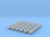 1/700 Oerlikon Tubs Flattened (Stepped Bottom) x36 3d printed 1/700 Oerlikon Tubs Flattened (Stepped Bottom) x36