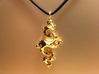 Dragon Pendant 4cm 3d printed Gold Plated