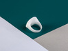 archetype - signature ring round 3d printed pictured material: white plastic