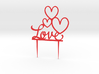 Hearts&Love Cake Topper 3d printed