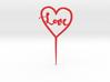 Love inside Heart Cake Topper 3d printed