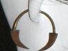 Slave Leia Earrings (ORDER TWO) 3d printed
