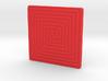 Maze Square 3d printed