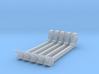 (4) GREEN STEEL FLASHER BARS 3d printed