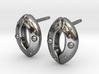 Stomata Earrings 3d printed