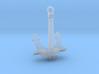 1/96 DKM Bismarck Aft Anchor 3d printed