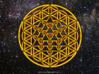 64 Tetrahedron Grid - Flower of life 3d printed Artist impression of the 64 tetrahedron grid flower of life