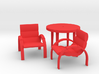 Patio Table With 2 Chairs 3d printed