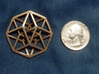 4D Hypercube (Tesseract) small 3d printed Small 4D Hypercube in Raw Stainless Steel
