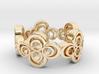 Nouveau Ring 2: Four Leaf Clover 3d printed