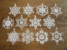 Snowflake Ornaments - One Dozen Large 3d printed All twelve of these ornaments are included with this order