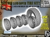 1-35 Land Rover 750x16 Tire And Wheels Set2 3d printed