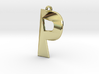 Distorted letter P 3d printed