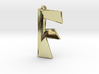 Distorted letter F 3d printed