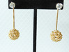 Virus Ball -- Earring Jackets or Earrings in Metal 3d printed Everything looks better with diamonds!