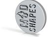 Mod shape Incut Emblem 3d printed
