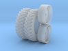 1/64 Scale 42 Inch Cast Wheel And Tire Set 3d printed