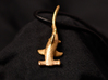 Hammerhead Shark Pendant 3d printed Picture of the Hammerhead in Polished Gold Steel