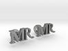 MR personalised cufflinks 3d printed