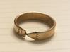 Pencil Ring, Size 8.5 3d printed Raw brass