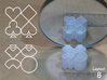 Improved Ambiguous Cylinder Illusion (Layout 8) 3d printed 3d printed object in front of mirror