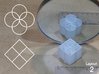 Improved Ambiguous Cylinder Illusion (Layout 2) 3d printed 3d printed object in front of mirror