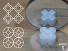 Improved Ambiguous Cylinder Illusion (Layout 1) 3d printed 3d printed object in front of mirror