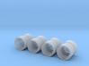 1/64 18.4R34 Banded Dual Rims 3d printed