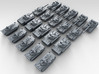 1/700 Scale Russian Modern Tank Set 1 3d printed 3d render showing product detail