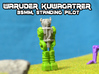 Waruder Kuwagatrer Pilot mini, standing (35mm) 3d printed Hand painted White, Strong and Flexible