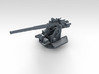 """1/350 4.7"""" /40 (12cm) QF Mark VIII x6 No Shields 3d printed 3d render showing product detail"""