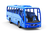 Volvo 9700 bus in Z scale 1:220 3d printed 3D rendered preview with blue paint scheme