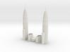 Petronas Towers (1:2000) 3d printed