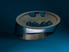 Batman Ring 3d printed Stainless Steel Render