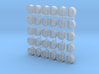 1/350 Oerlikon Tubs Flattened (Stepped Bottom) x30 3d printed 1/350 Oerlikon Tubs Flattened (Stepped Bottom) x30