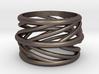 Silvia Swirl Ring 3d printed