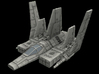 XG-1 Star Wing Assault Gunboat 1/270 3d printed assault gunboat wings folded