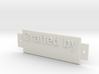 Name Plate 0004 - emboss 3d printed