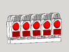 00/EM/P4 10x British Rail Mk3 Tail Lamp 3d printed A render with suggested colours