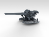 "1/200 4.7"" MKXII CPXIX Twin Mount x4 3d printed 3d render showing gun mount detail"